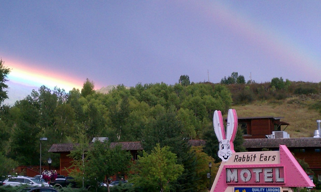 Rainbow from Rabbit Ears Motel. Submitted by: Patty Bell