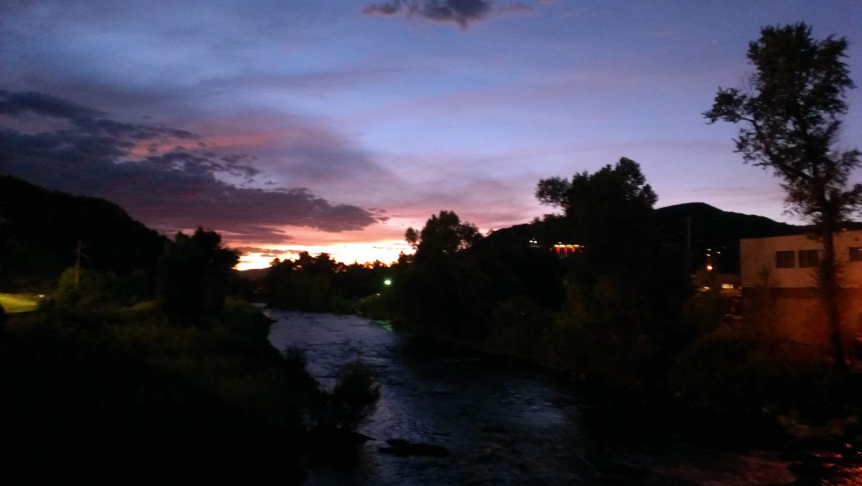 Sunset in Steamboat on Friday near the free concert. Submitted by: Sam Daniels.