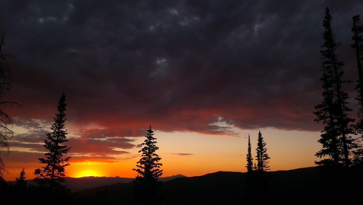 Sunday night sky on Buff Pass. Submitted by: Sam Daniels