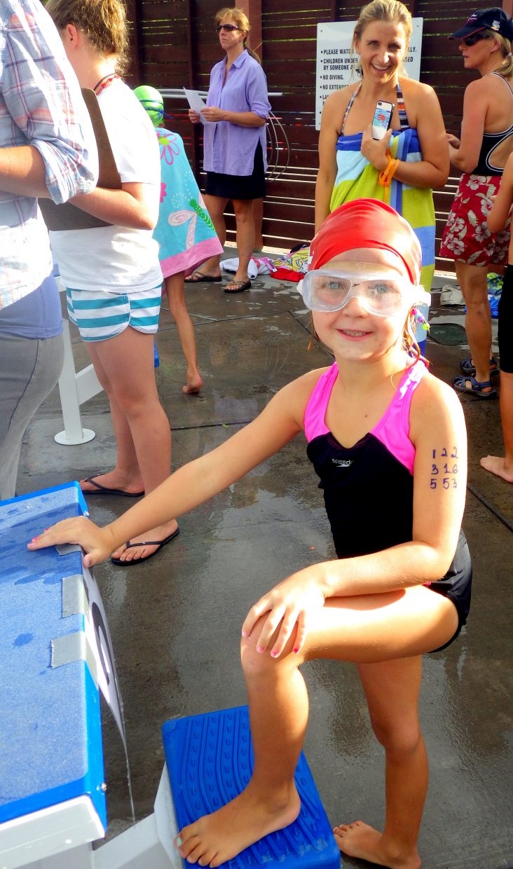 The Old Town Hot Springs hosted a Mini Meet on Tuesday night. Kids on the Development Team of the Steamboat Springs Swim Team got a chance to see what a real swim meet is like. Submitted by: Shannon Lukens