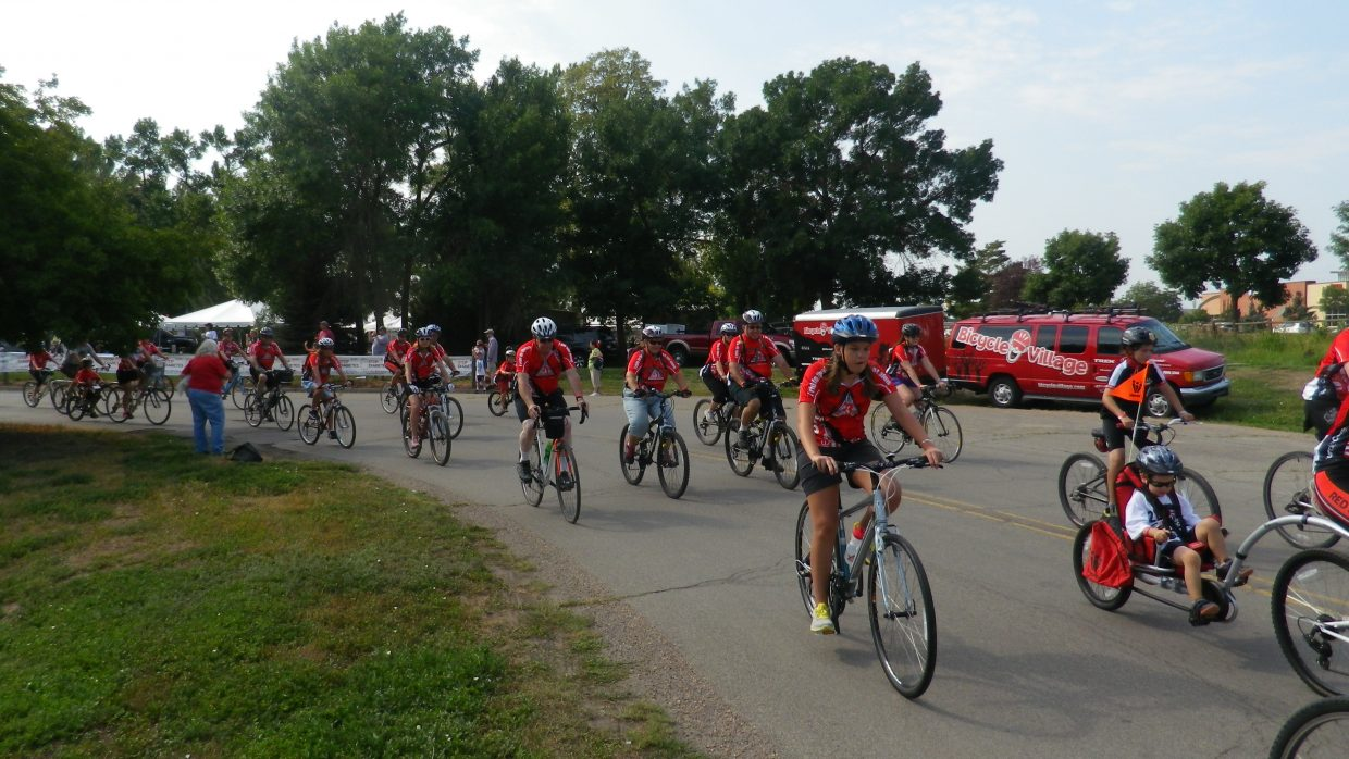 Leonard Auter riding with Team Red Colorado in the ADA Tour de Cure Colorado on Aug. 17 at the starting gate riding for diabetes. Submitted by: Leonard Auter