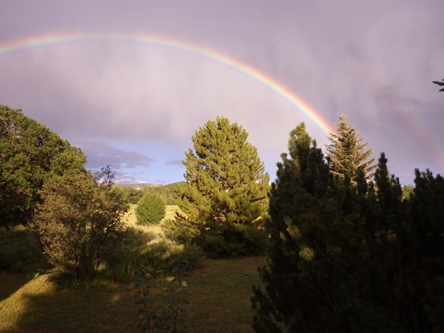 Rainbow over Fish Creek Meadows. Submitted by: Susan Frederick