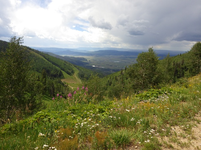 The view from Duster on Mt. Werner. Submitted by: Susan Frederick