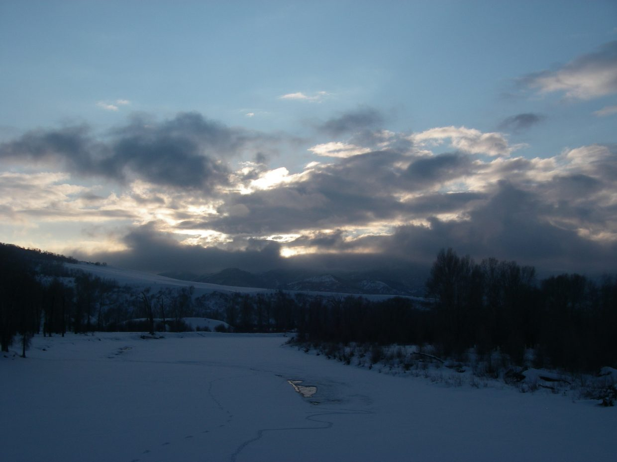 Mary Davies took this picture of the sunset over the Yampa River west of town on Thursday Jan. 28