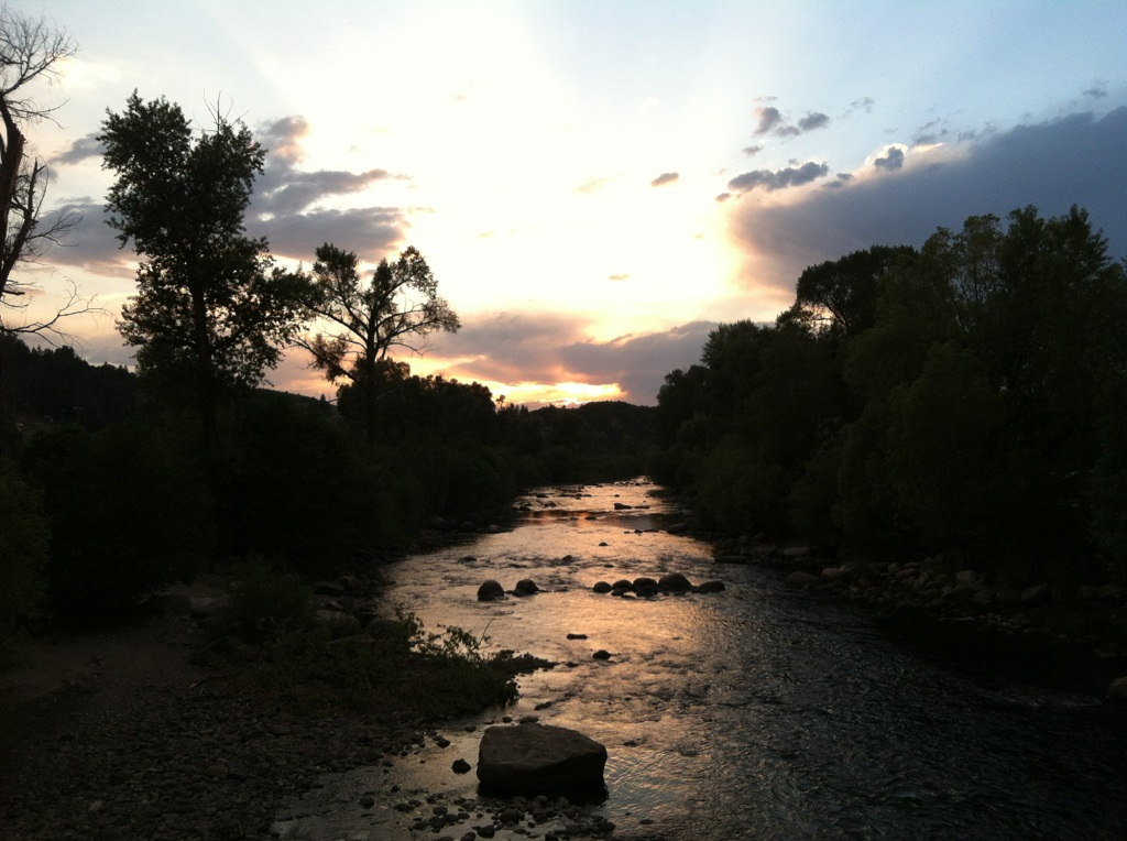 Sunset on the river. Submitted by: Patricia Davie