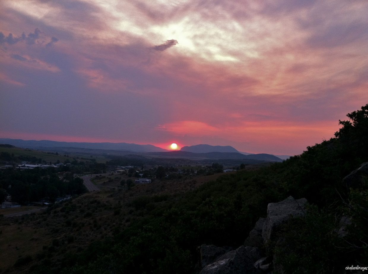 Sun setting over Sleeping Giant's head. Submitted by: Ollie Ballard