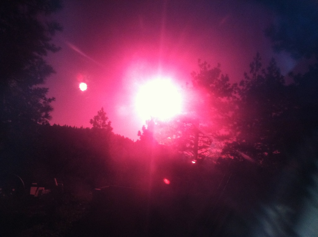 Solar eclipse taken by 11-year-old Bailey Fricault while visiting Crestline, Calif., on May 20.