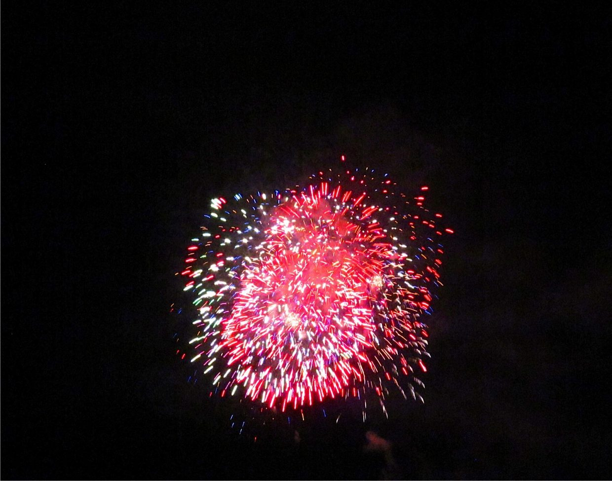 Fourth of July fireworks. Submitted by: Ryan Lohan