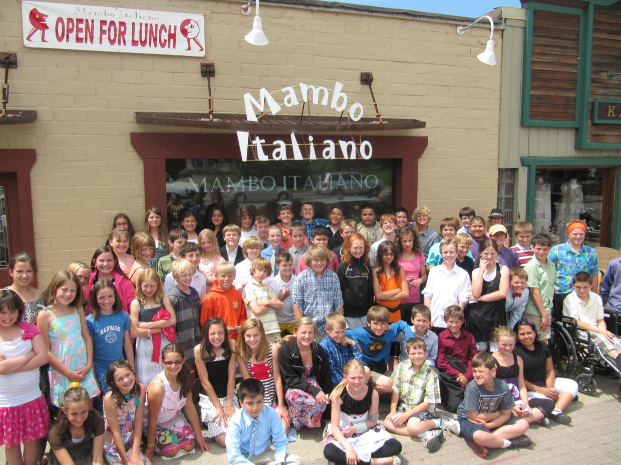 The Soda Creek Elementary School fifth-grade class participated in the 2nd annual fifth grade Formal Luncheon. The luncheon is the culmination of etiquette lessons taught by Molly Manners. Kim Brack, chairperson of the committee, started this in Steamboat last year, borrowing it from Kitty Hawk Elementary in North Carolina where she moved from. It seems kids in Steamboat are up to the challenge of good manners and dressing for a meal. This also is a celebration for these kids (most who have spent the past six years in this elementary school) who are making the transition to middle school. A parent from each class helped to facilitate this event as well, including Katie Armstrong, Kris Rowse, Amandy Koly and Lori Keefe.Submitted by: Kim Brack