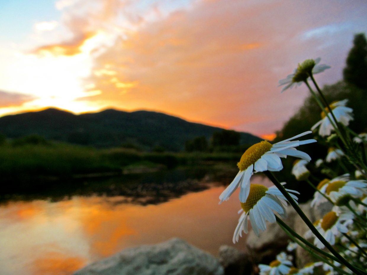 Thursday Sunset on the Yampa. Submitted by: Ryan Lohan