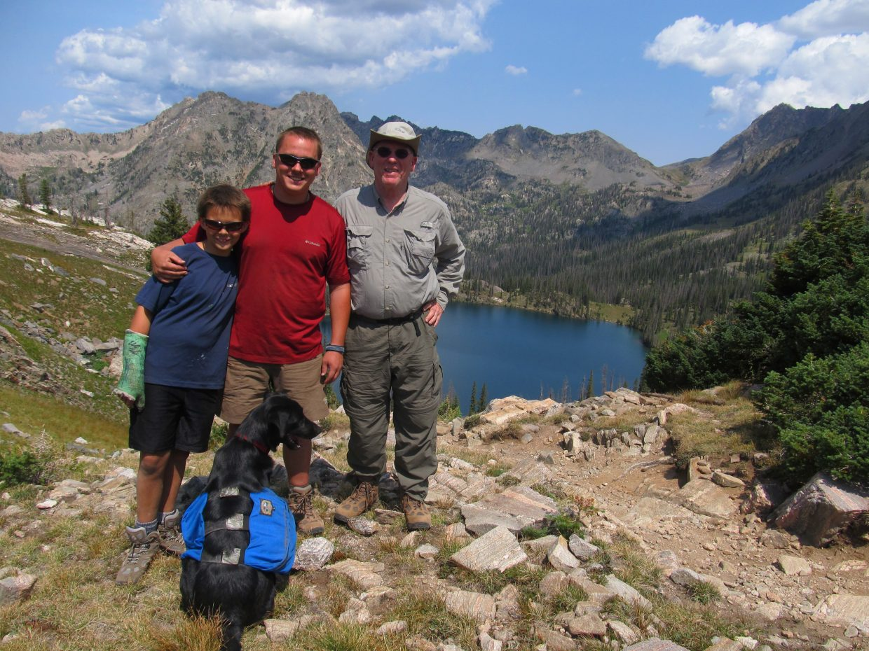 Nephew and Dad visiting atop Gilpin Lake. Submitted by: Adam Harwood