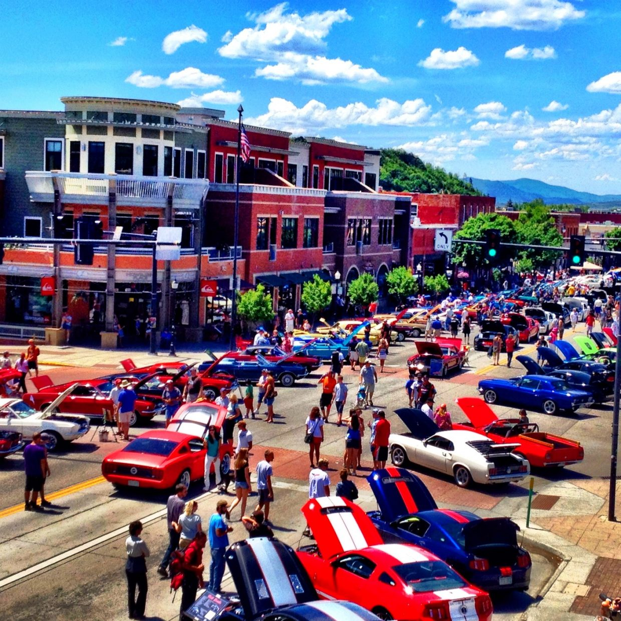 Beautiful afternoon at the Mustang Rally. Submitted by: Trace Adams