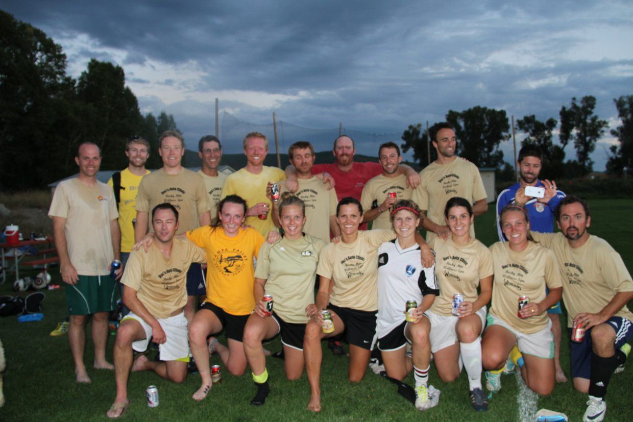 Second-place adult soccer team. Submitted by: Pio Utu