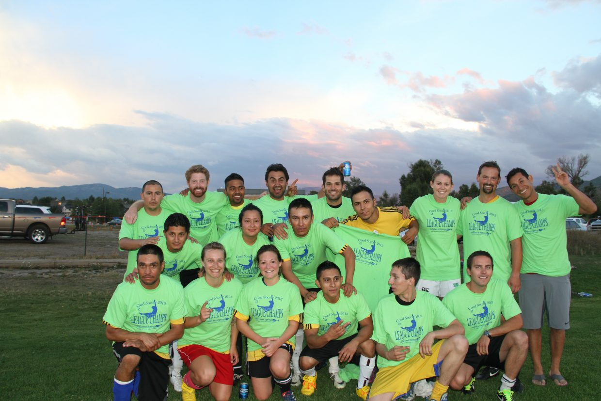 First-place adult soccer team. Submitted by: Pio Utu