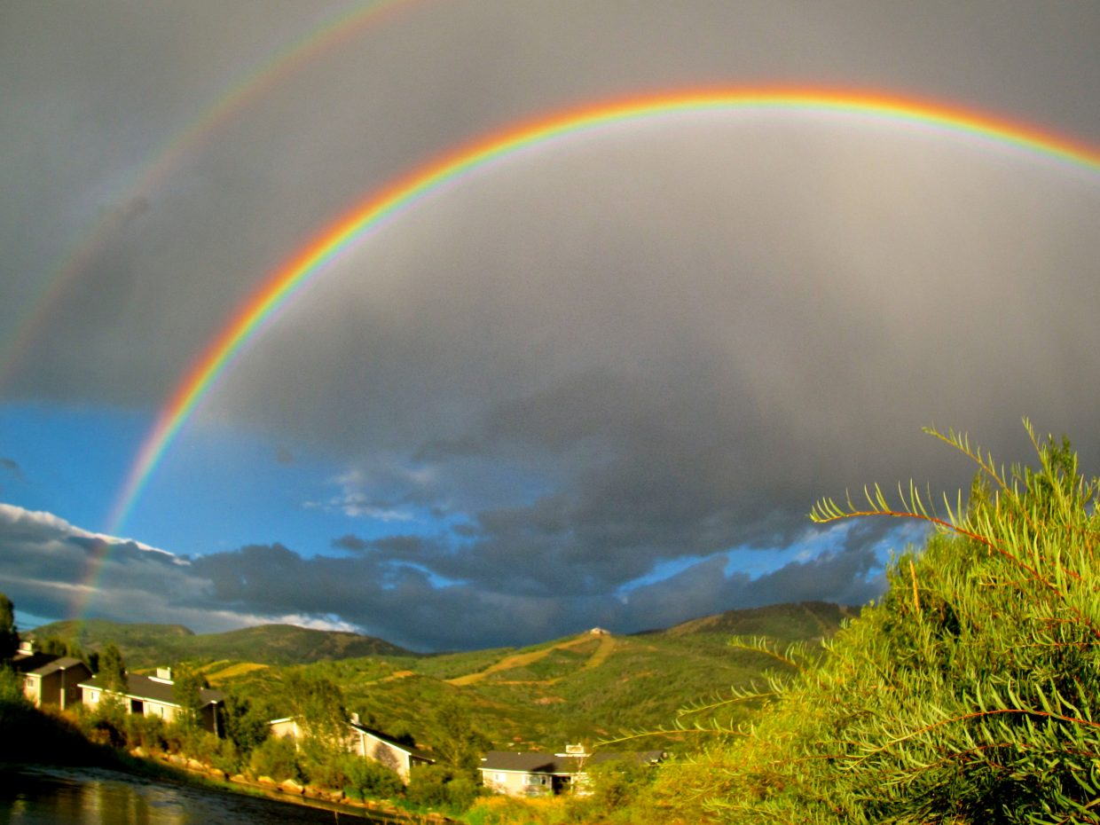 Double rainbow. Submitted by: Ryan Lohan