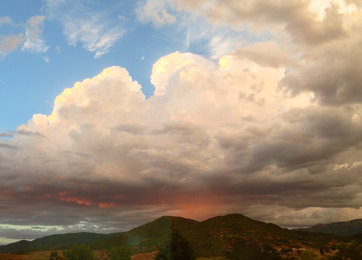Wednesday night's storm with red rain. Submitted by: Ron Contarino