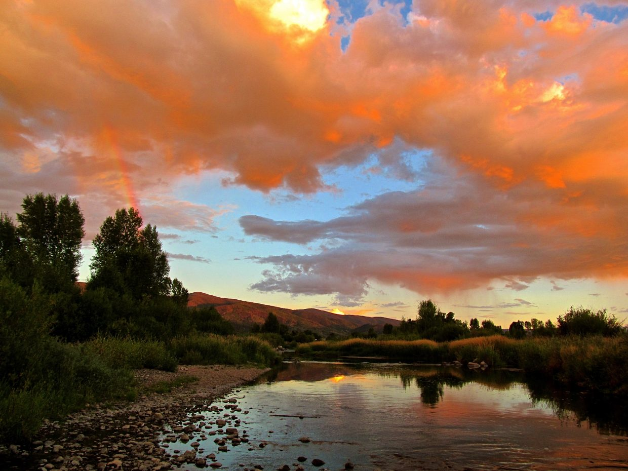 Alpen Glow Rainbow Sunset. Submitted by: Ryan Lohan