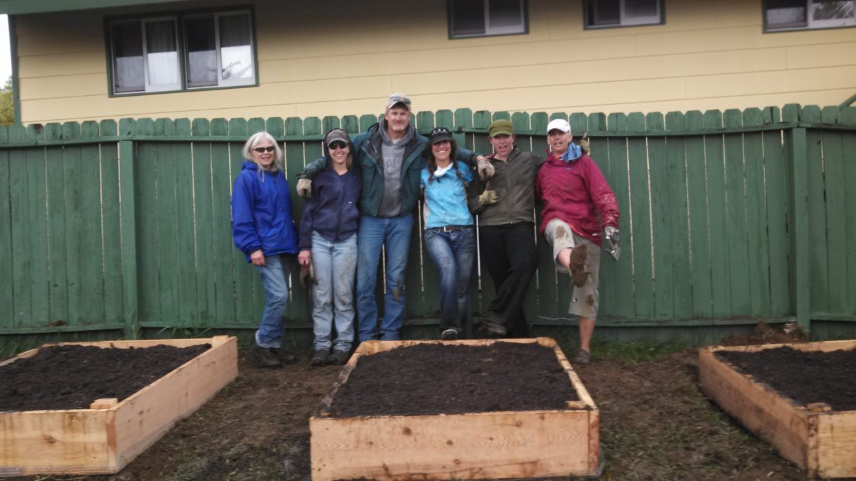 We had a collaborative effort with homeowners of Hilltop community to make a community garden, and in the rain, no less. We had a great time connecting and creating something we always will remember and will blossom throughout the seasons. Submitted by: Alicia Wright