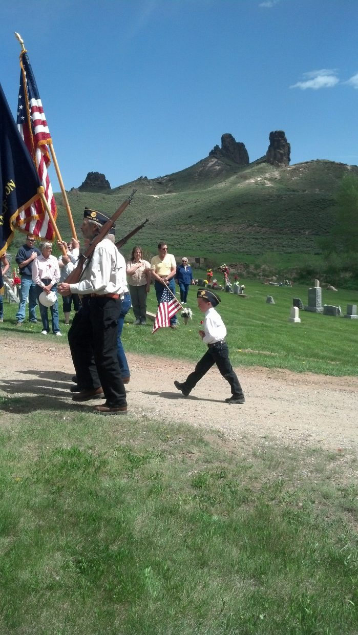 Yampa Memorial Day service. Submitted by: Diana Wheeler