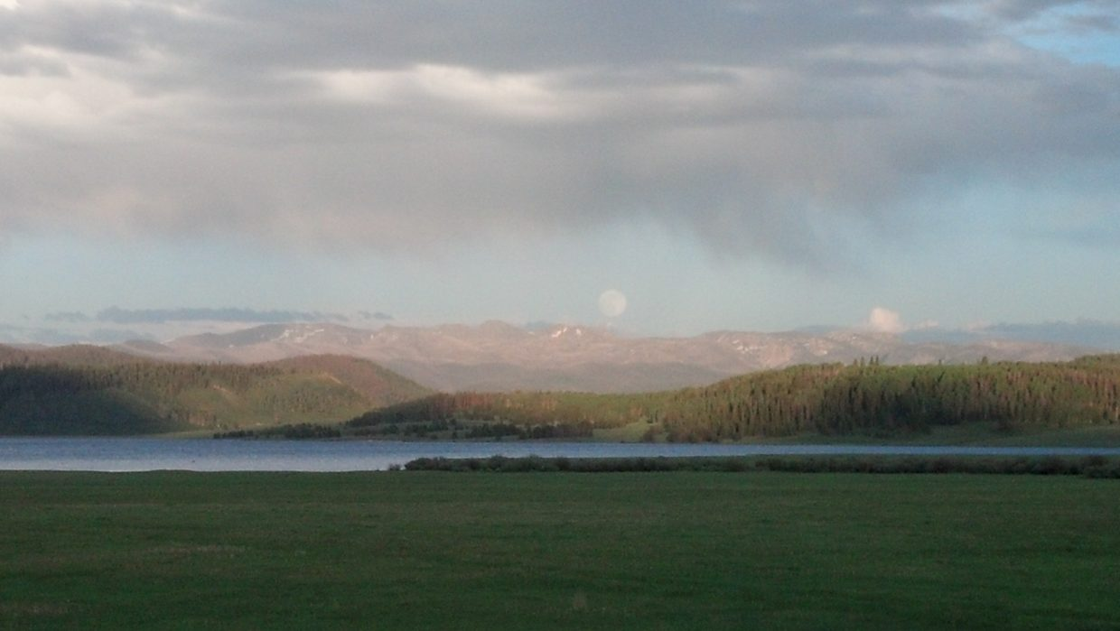 Photo of the supermoon over the Mount Zirkel Wilderness Area last Saturday night. Submitted by: Stu Koci