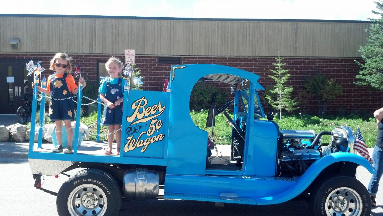First place in Oak Creek Labor Day parade. The girls are Jenna Wheeler and Alyvia Cox. Submitted by: