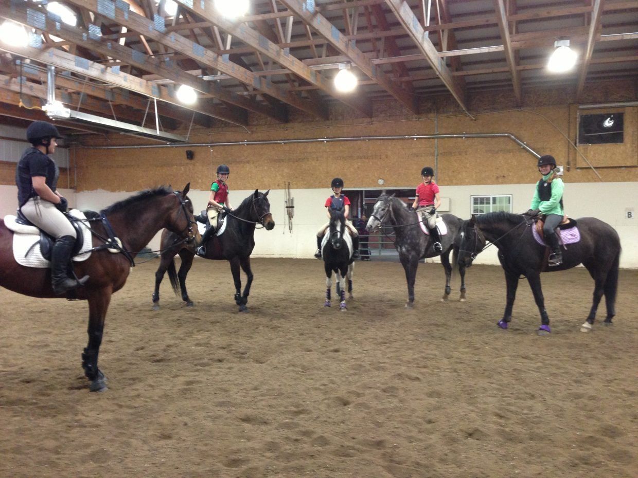 Members of Yampa Valley Pony Club ready for a spring ride this past Sunday. Submitted by: Lauren McLaughlin