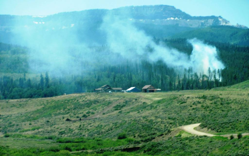 Lightning is the suspected cause of a wildfire that grew to about one acre Monday on U.S. Forest Service land in South Routt County. Routt Zone Fire Management Officer Sam Duerksen said the lightning strike occurred Friday night, but it did not develop into a wildfire until Monday when a red flag warning was in place for all of Western Colorado.