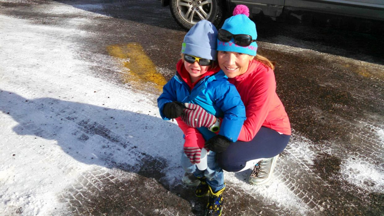 Cara and Max Marrs at the 2014 Turkey Trot. Submitted by: Cara Marrs