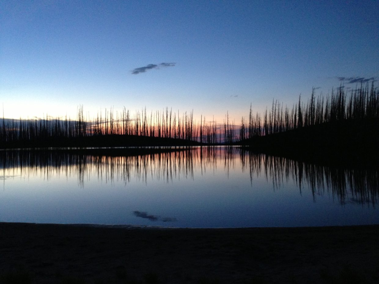 Wolverine Lake at the Mount Zirkel Wilderness Area. Submitted by: Lainey Reisman