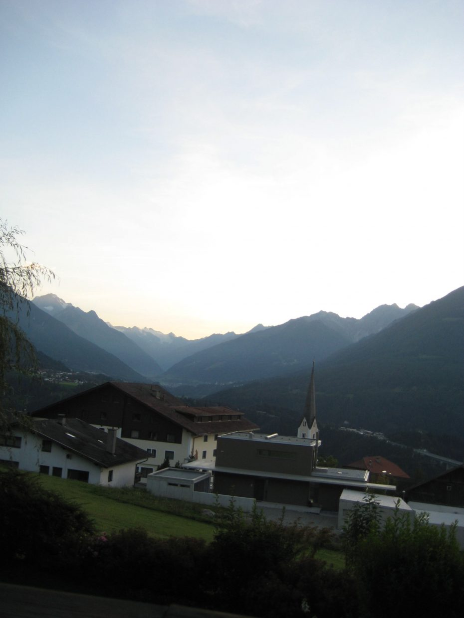 The view from the Austria residency housing in Patsch, Austria.
