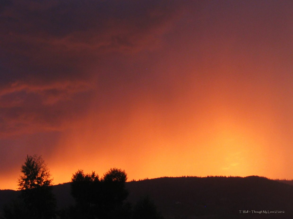 Mother Nature's beautiful sky during the evening rain Sept. 2. Submitted by: Teri Wall