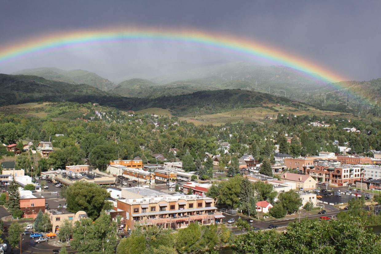 Rainbow over Steamboat. Submitted by: Jake Flax
