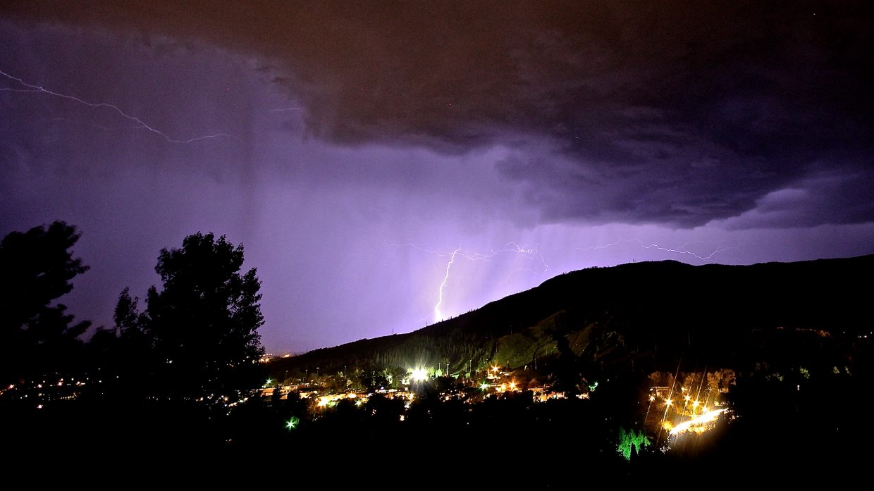 A late summer's night thunderstorm. Submitted by: Eric Schankerman