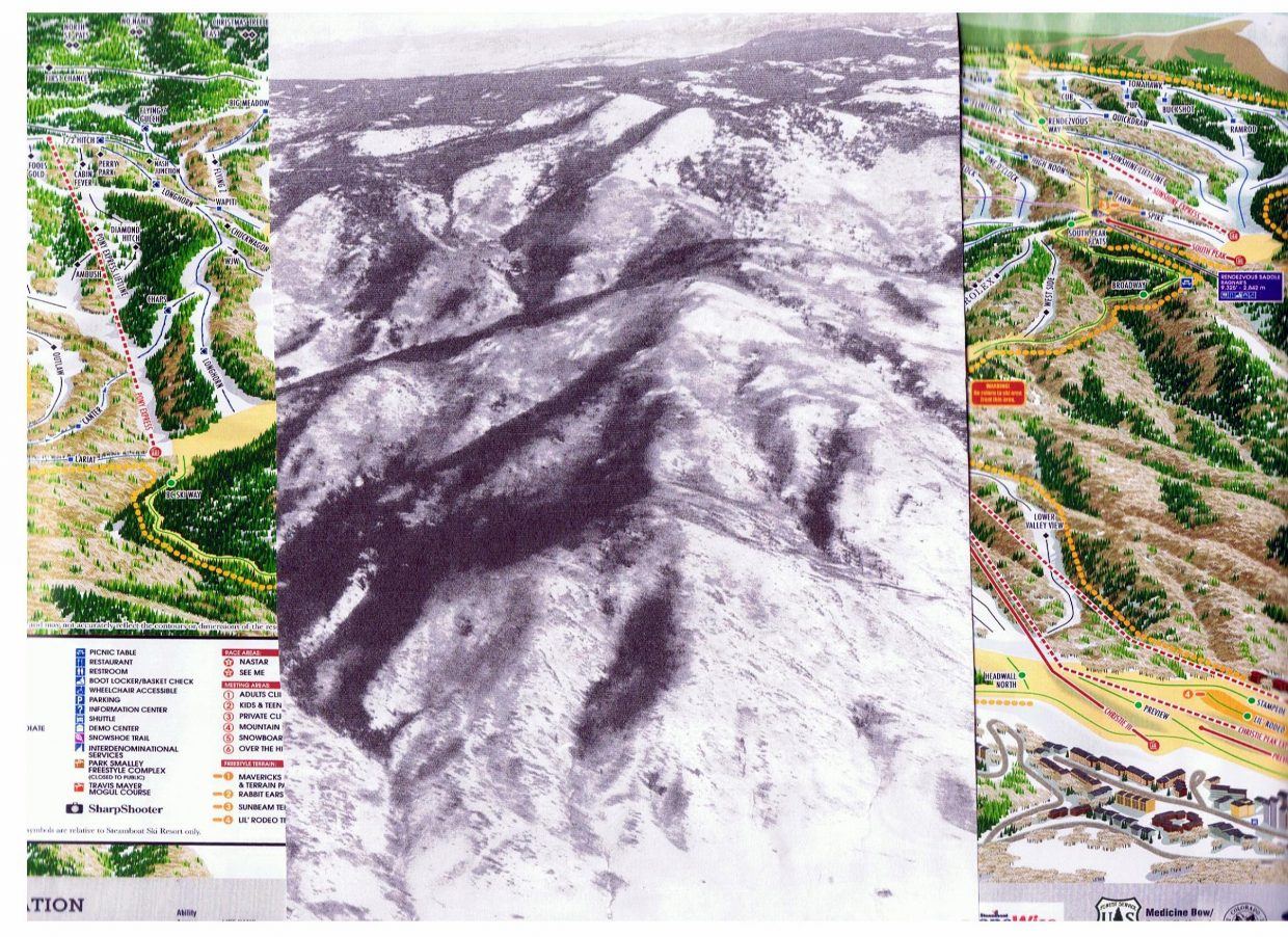 Photo of Steamboat Ski Area, now and then. Submitted by: Molly Lotz