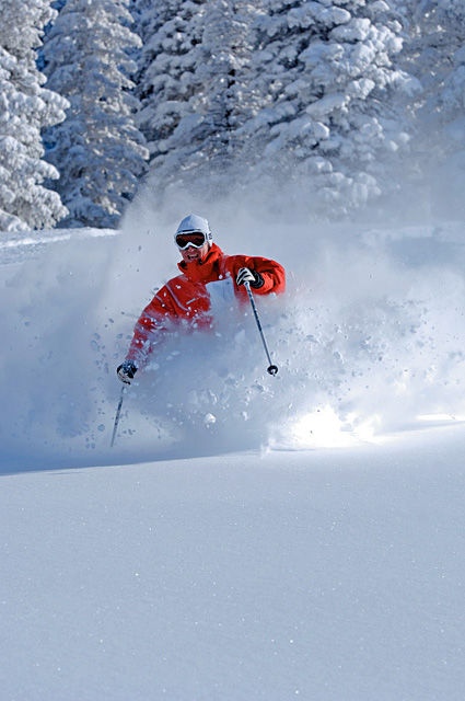 Joe Kelly hits the powder on Nov. 29.