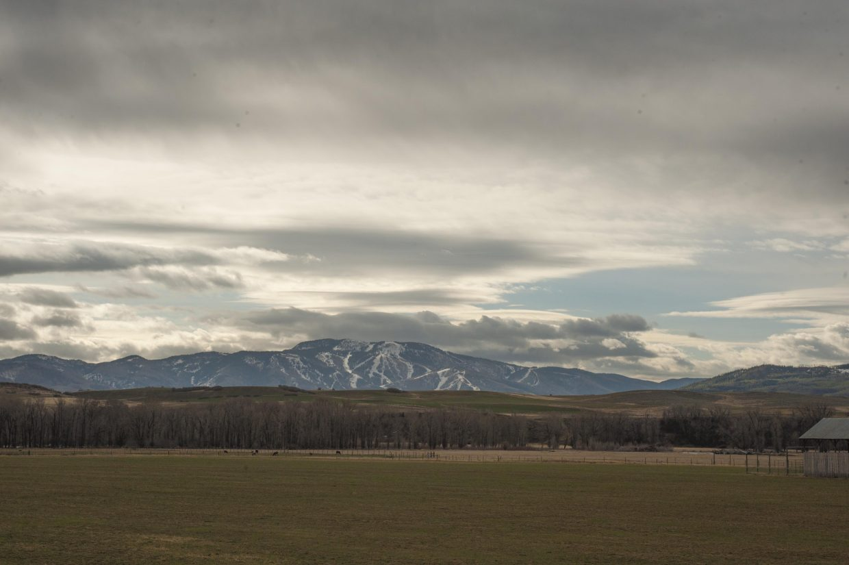Finally some snow clouds over Steamboat Ski Area. Submitted by: Karl Gerber