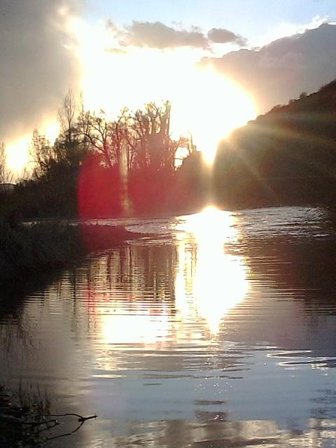 Yampa River at sunset. Submitted by: Kayla Anderson