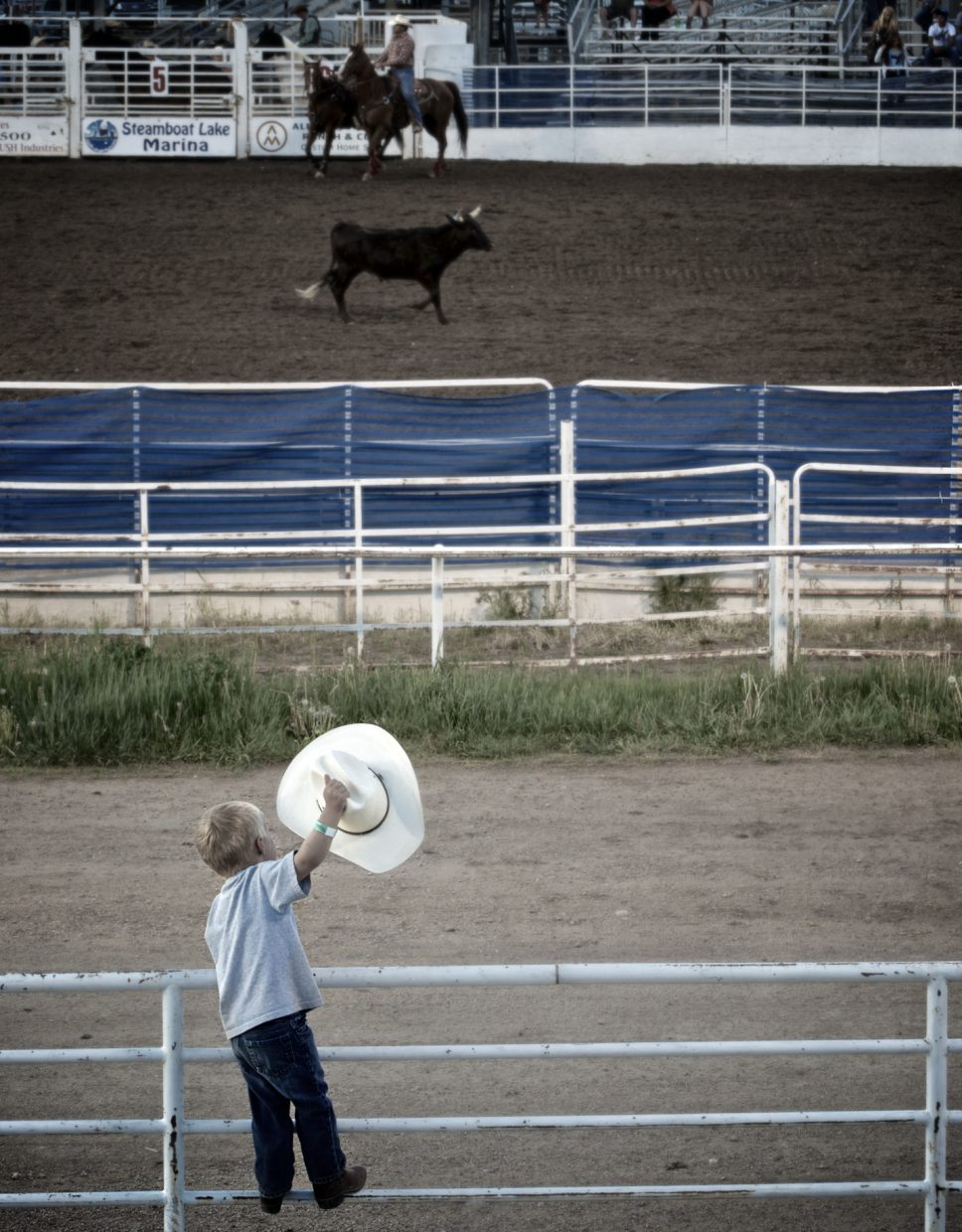 Enthusiastic little cowboy. Submitted by: Dana Stoner.