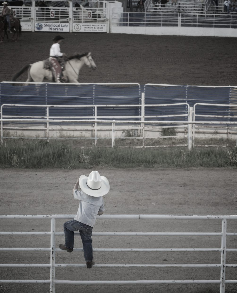 Cowboy on the fence. Submitted by: Dana Stoner.
