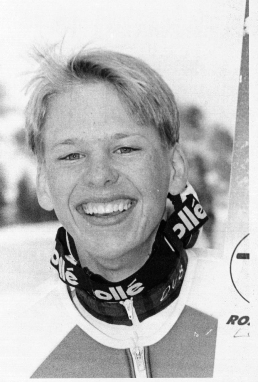 Todd Lodwick on Feb. 10, 1994, at the Olympics.