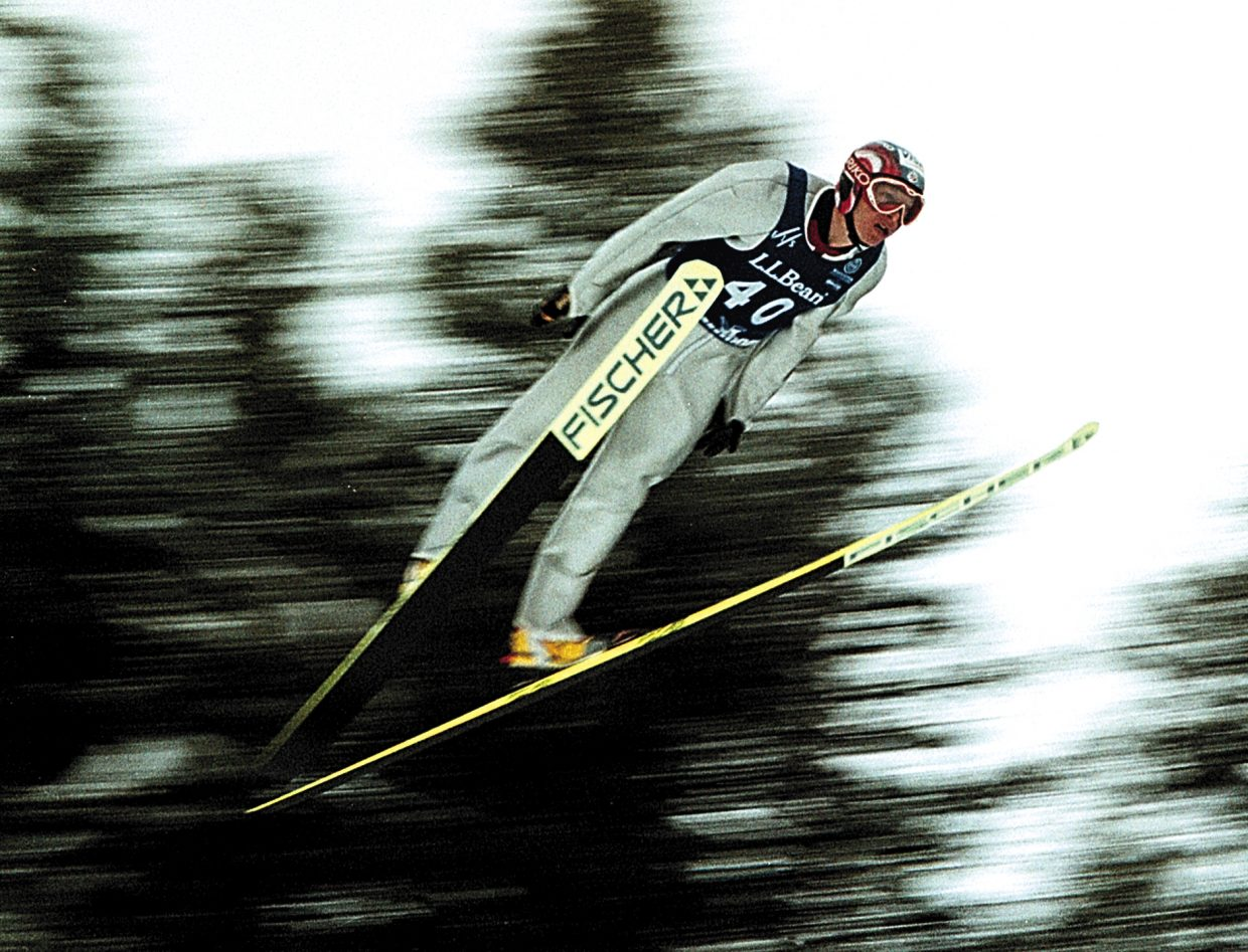 Todd Lodwick jumps in 2001.