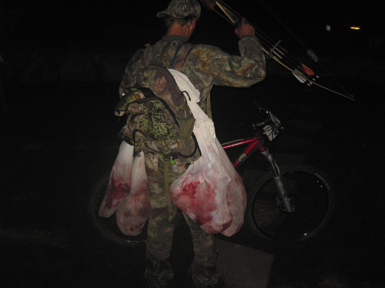 Todd Lodwick after harvesting a cow elk.