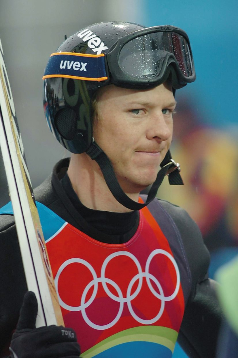Todd Lodwick after the Winter Olympics.