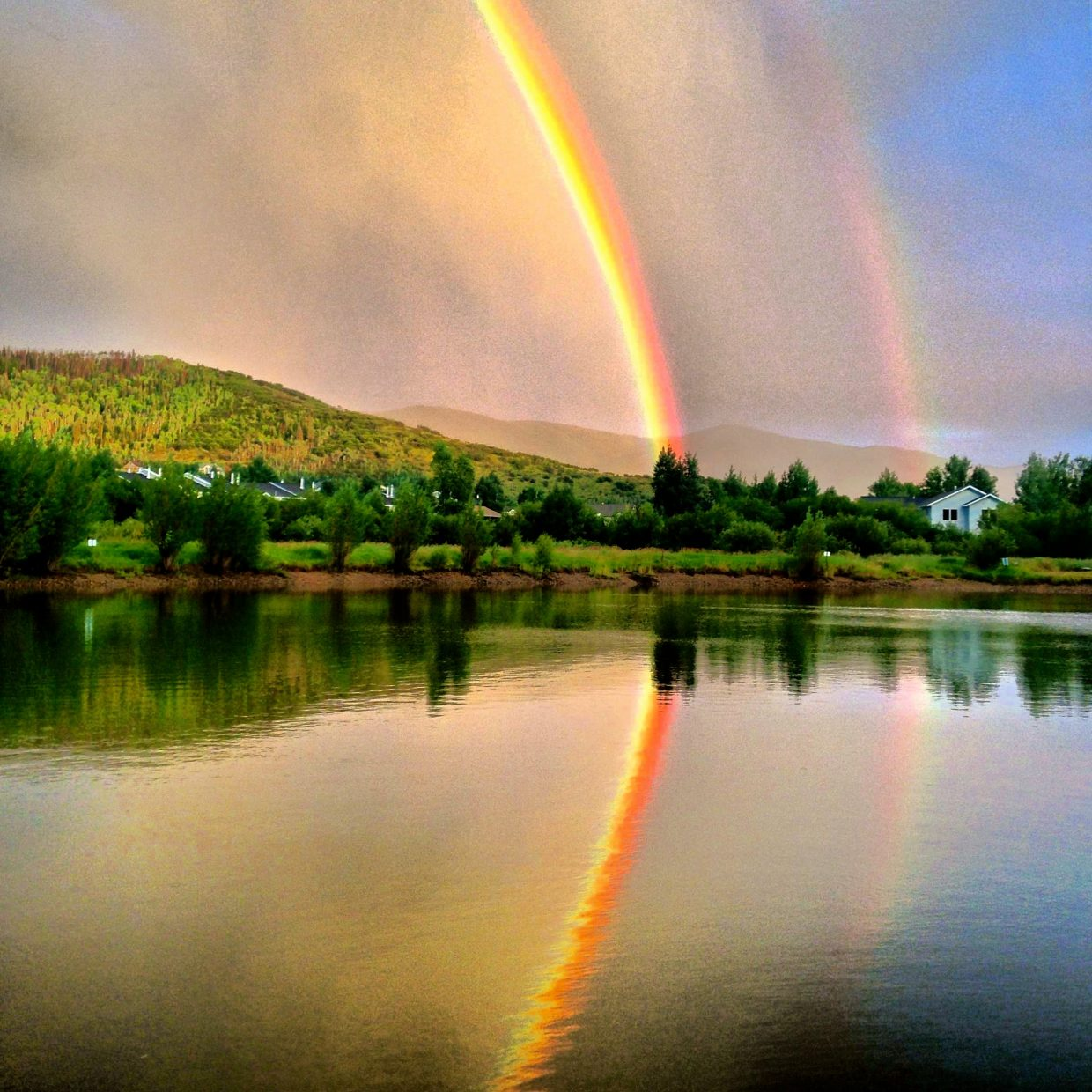 Rainbow reflection. Submitted by: Ryan Lohan