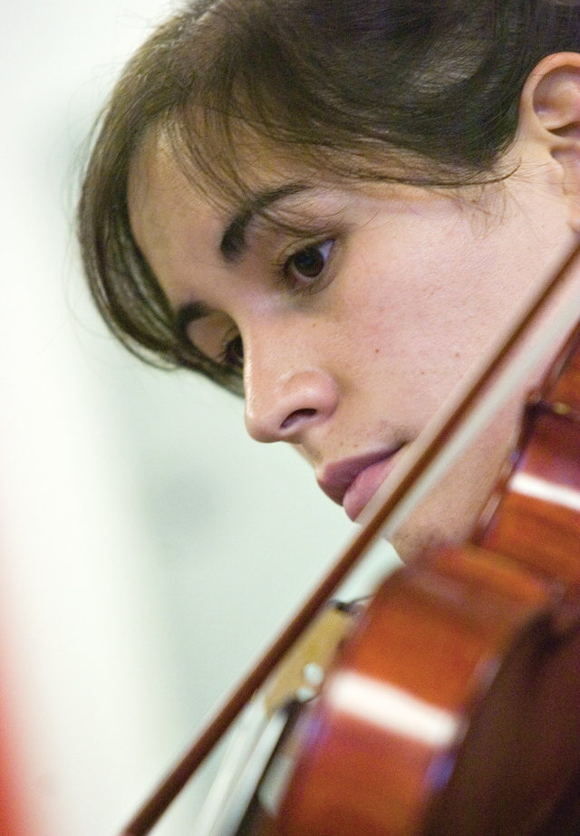 Alisa Seavey plays her viola during a master class for the Rocky Mountain Summer Conservancy at the Lowell Whiteman School on Tuesday afternoon.
