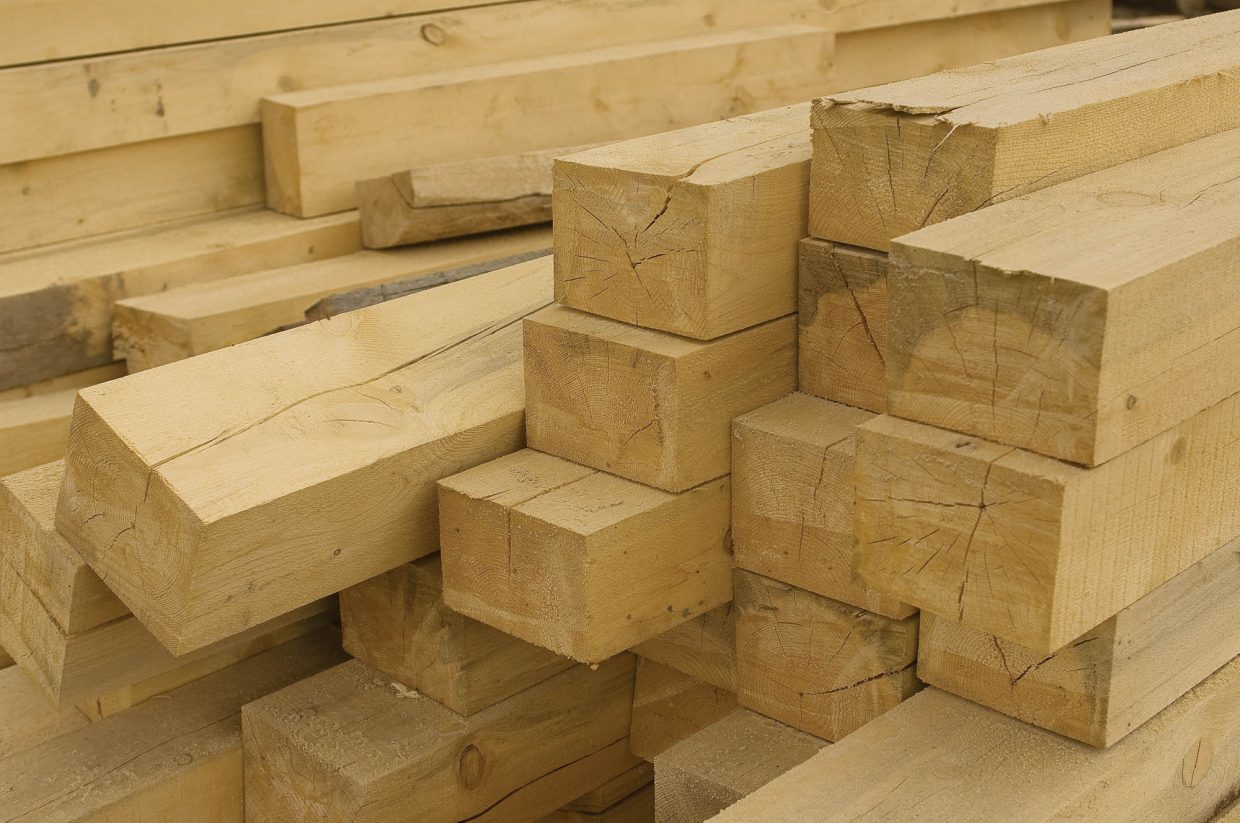 Lumber produced from trees killed by beetles is stacked in a pile at J Bonn Wood Products in Steamboat Springs. It will be used in home construction. Bonn is one of several local businessmen hoping to find a silver lining in the beetle epidemic in Colorado.