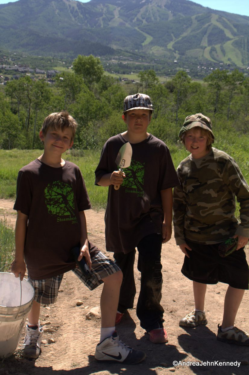 Participants help out at the 3rd annual ReTree Steamboat, held at Steamboat Ski Area and Howelsen Hill.
