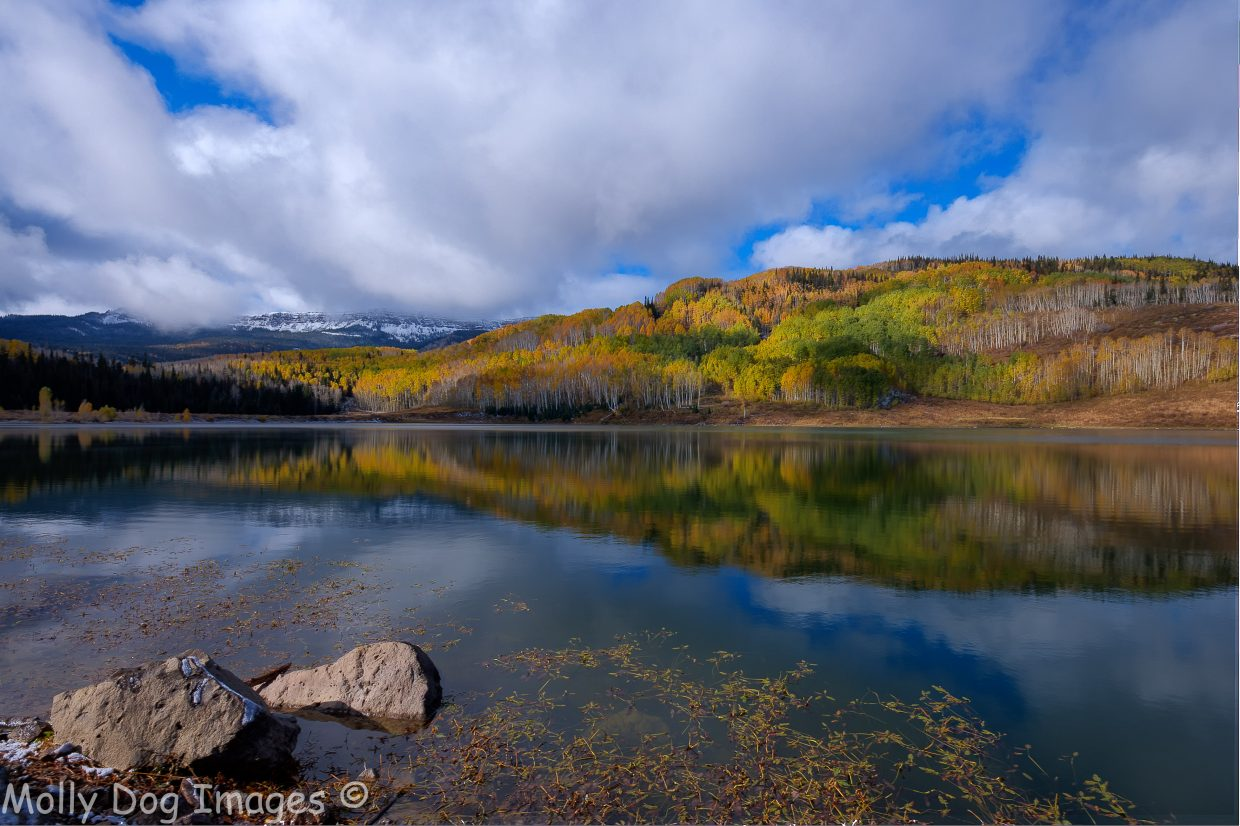 Fall colors over Crosho Lake. Submitted by: John McArthur