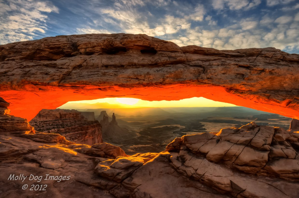 Mesa Arch sunrise in Canyonlands National Park. Submitted by: John McArthur