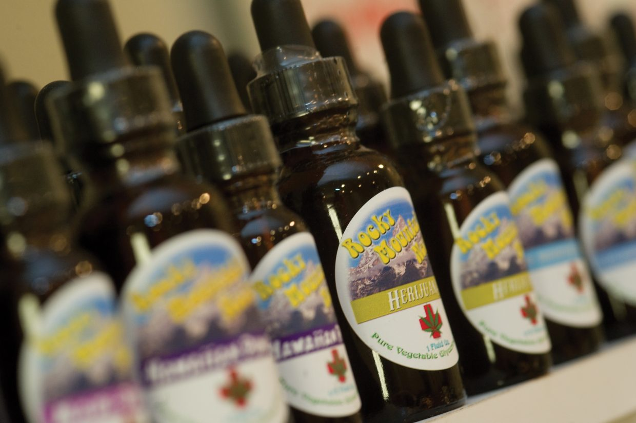 Patients who enter Rocky Mountain Remedies will find a wide selection of marijuana. Many patients prefer to smoke it, but the Steamboat Springs business also offers edibles, drinks and tinctures with varieties of marijuana in them.